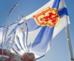 Community Spirit Award Award with Nova Scotia Flag