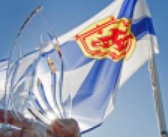 Community Spirit Award Award with Nova Scotia Flag