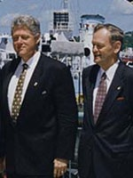 Bill Clinton and Jean Chretien at the G7 Economic Summit
